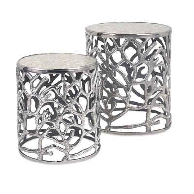 Beachcrest Home Fountainbleau 2 Piece End Table Set
