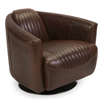 Trent Austin Design Jonkan Leather Retro Tub Chair