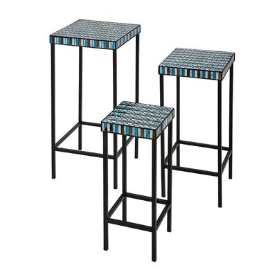 World Menagerie Grand Blanc 3 Piece End Table Set