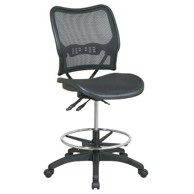 CommClad Adjustable Mid-Back Office Chair with Footring