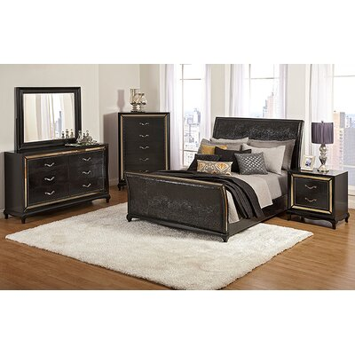 Najarian Furniture Ibiza Sleigh Customizable Bedroom Set