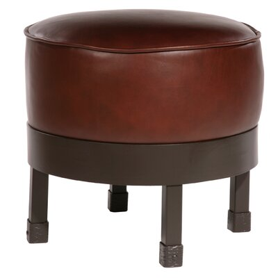 Stone County Ironworks Cedarvale Leather Ottoman