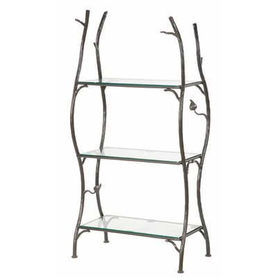 Stone County Ironworks Sassafras 3-Tier Double Width Standing Tile Shelf 55