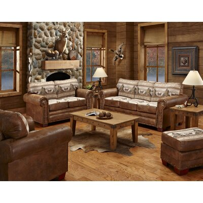 American Furniture Classics Alpine Lodge 4 Piece Living Room Set with Sleeper Sofa