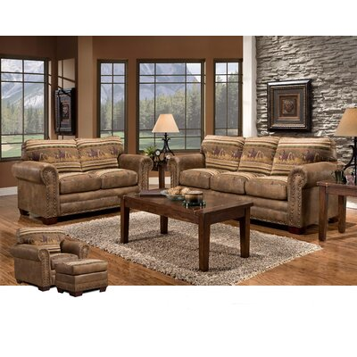 American Furniture Classics Wild Horses 4 Piece ..