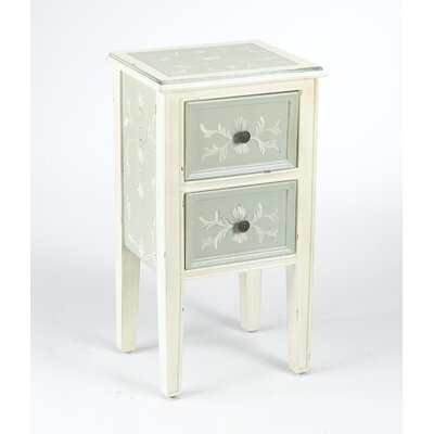 AA Importing 2 Drawer End Table
