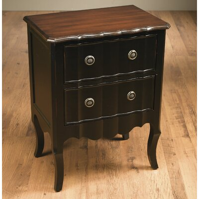 AA Importing 2 Drawer Nightstand