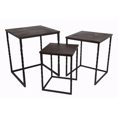 Privilege 3 Piece Squared Nesting Table Set