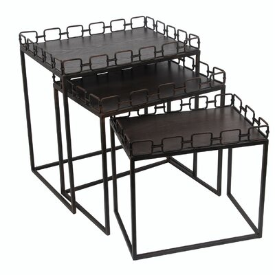 Mercury Row Abdo 3 Piece Nesting Tables