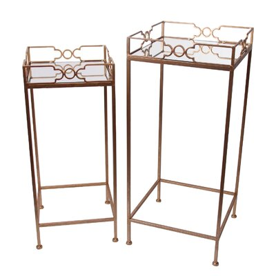 House of Hampton Karsch 2 Piece End Table Set