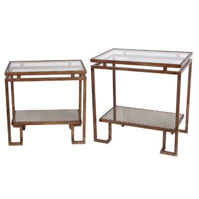Mercer41 Corio 2 Piece End Table Set