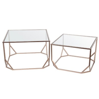 Mercury Row Aarav 2 Piece Nesting Tables