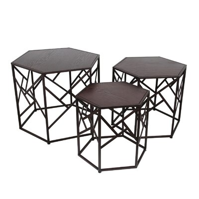 Brayden Studio Volkonskaya 3 Piece Nesting Tables