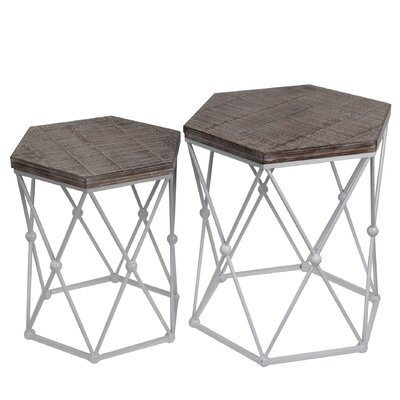 Bungalow Rose Bruni 2 Piece End Table Set