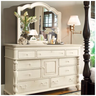 Paula Deen Home Steel Magnolia 9 Drawer Combo Dresser with Mirror