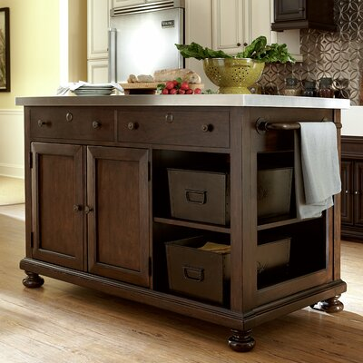 Paula Deen Home River House River House Kitchen Island with Stainless Steel Top