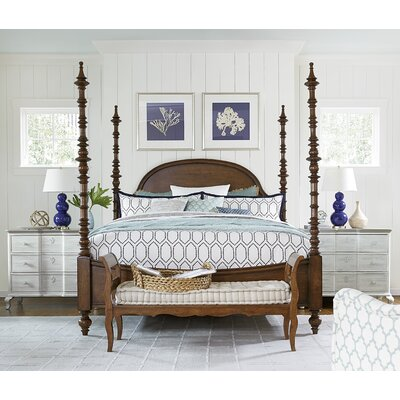 Paula Deen Home Dogwood Four Poster Customizable Bedroom Set