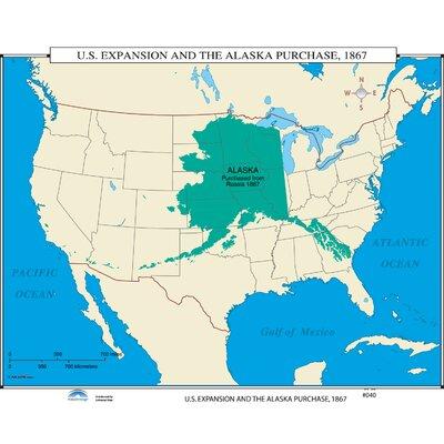 Universal Map US History Wall Maps US Expansion Alaska - Us map alaska