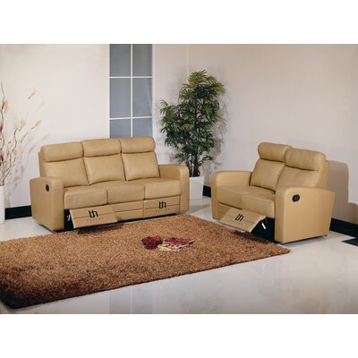 Hokku Designs Dual Reclining Leather Living Roo..