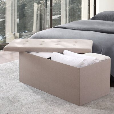 Fresh Ideas Storage Upholstered Bedroom Bench