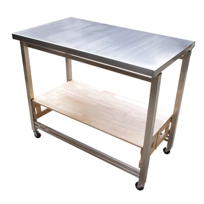 Oasis Concepts Prep Table With Stainless Steel Top