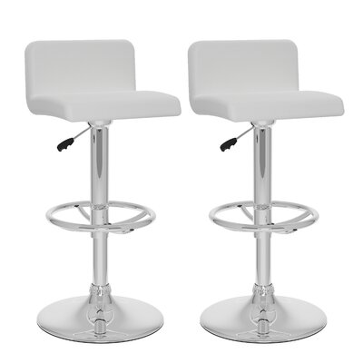 dCOR design CorLiving Adjustable Height Swivel Bar Stool (Set of 2)