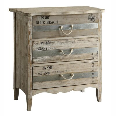 Crestview Collection Grand Isle 3 Drawer Dresser