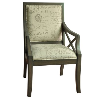 Crestview Collection Driftwood French Script X-Arm Chair