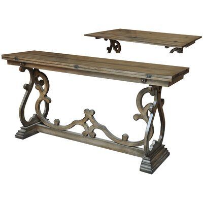 Crestview Collection Monticello Leg Flip Out Console Table