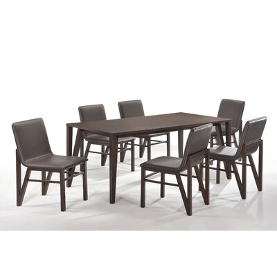 New Spec Inc Cafe 7 Piece Dining Set