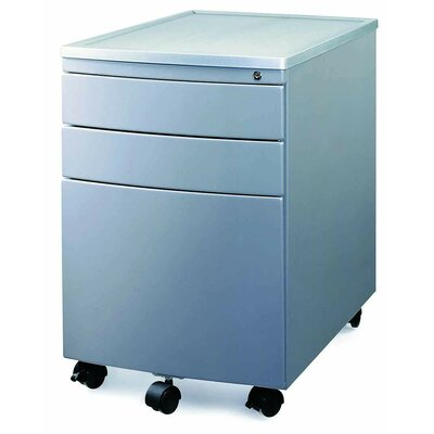 New Spec Inc 3-Drawer Mobile MP-04  File Cabinet