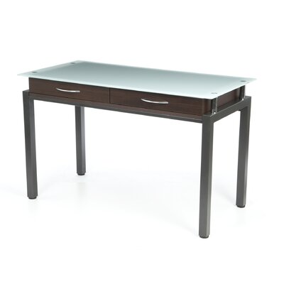 Wade Logan Norton Malreward Writing Desk with Glass Top
