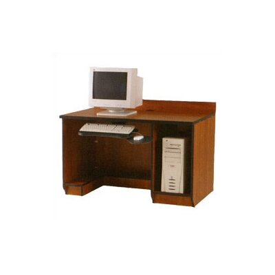 Fleetwood Illusions Student Computer Workstation with Keyboard and CPU Storage Image