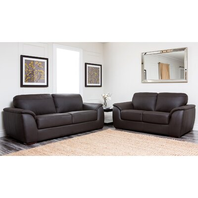 Abbyson Living Ashton Leather Sofa and Loveseat