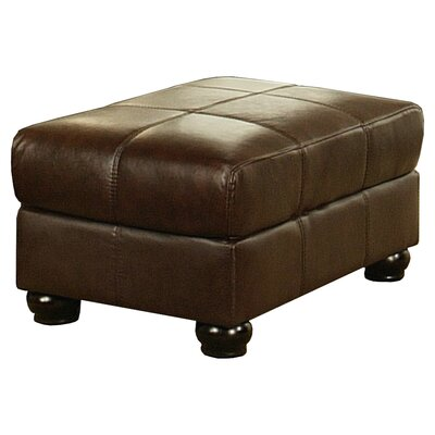 Abbyson Living Houston Leather Ottoman