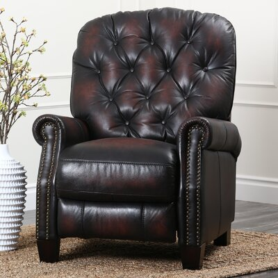 Abbyson living camden hand rubbed top grain leather for Abbyson living sedona leather chaise recliner