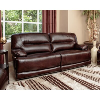 Abbyson Living Brownstone Leather Power Reclini..
