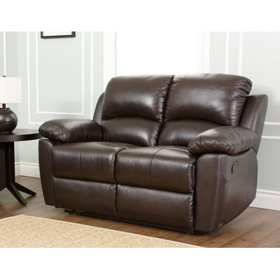 Abbyson Living Westwood Leather Reclining Loveseat