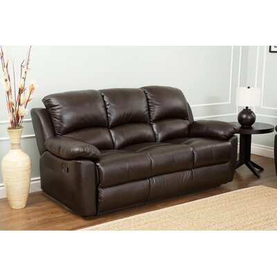 Abbyson Living Westwood Leather Reclining Sofa Image