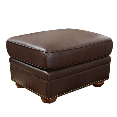 Astoria Grand Nassau Leather Ottoman