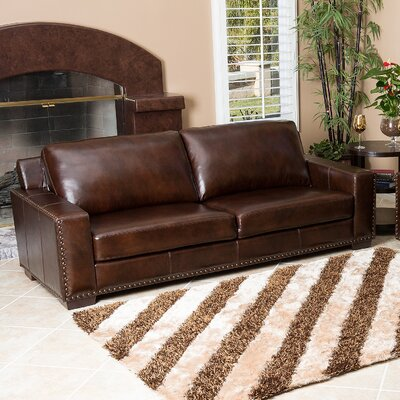 Abbyson Living Beverly Leather Loveseat