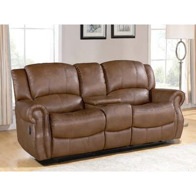Darby Home Co Baynes Console Reclining Loveseat