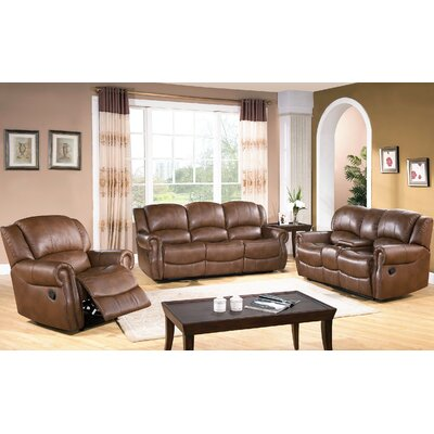 Darby Home Co Baynes 3 Piece Reclining Sofa Set