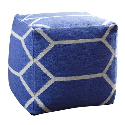 Brayden Studio Zavala Lattice Square Pouf Ottoman