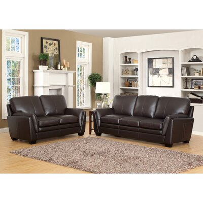Darby Home Co Whitstran Top Grain Leather Sofa a..