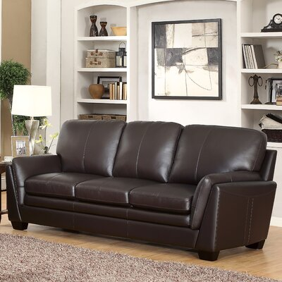 Darby Home Co Whitstran Leather Sofa