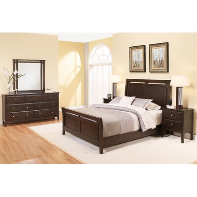 Latitude Run Kaitlin Sleigh 5 Piece Bedroom Set