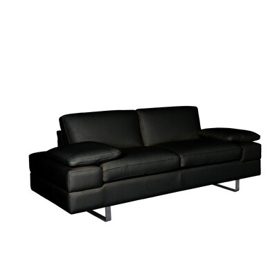 Bellini Modern Living Lindo Leather Loveseat