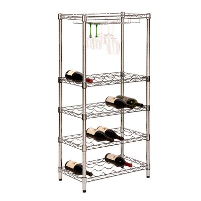 Honey Can Do 5-Tier 24 Bottle Floor Wine Rack