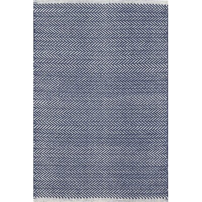 Dash and albert rugs herringbone hand woven blue area rug for Dash and albert runners
